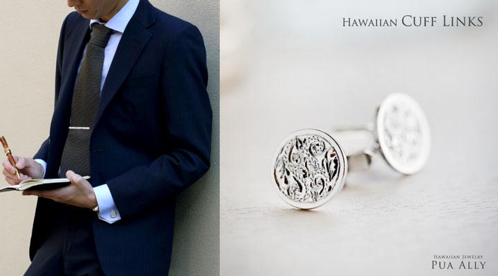 ハワイアン,カフス,hawaiian,cufflinks